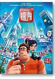 "Movie poster for ""RALPH BREAKS THE INTERNET : WRECK-IT RALPH 2"""