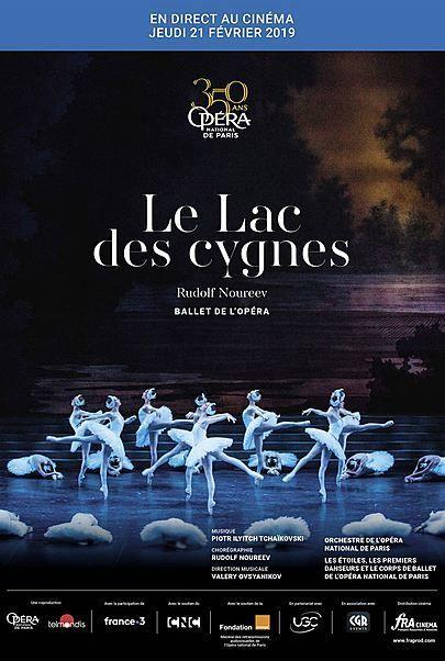 """Movie poster for """"LE LAC DES CYGNES ( OPERA DE PARIS - FRA CINEMA )"""""""