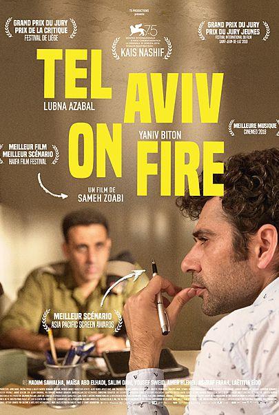"""Movie poster for """"TEL AVIV ON FIRE"""""""
