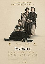 "Movie poster for ""THE FAVOURITE"""