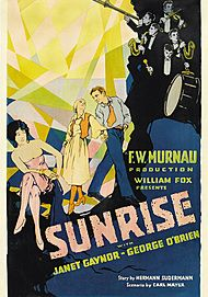 "Movie poster for ""SUNRISE : A SONG OF TWO HUMANS"""