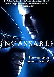 "Movie poster for ""UNBREAKABLE"""
