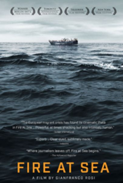 "Movie poster for ""FIRE AT SEA"""