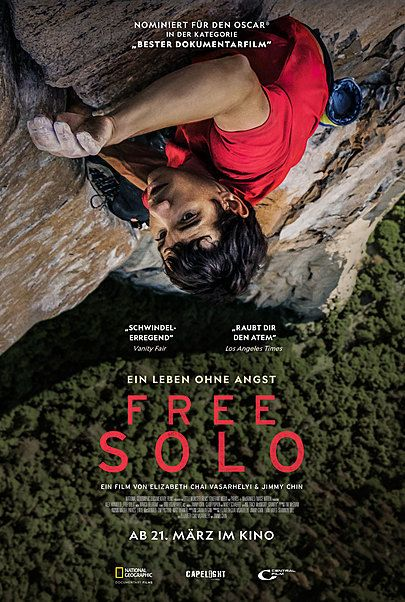 "Movie poster for ""FREE SOLO"""