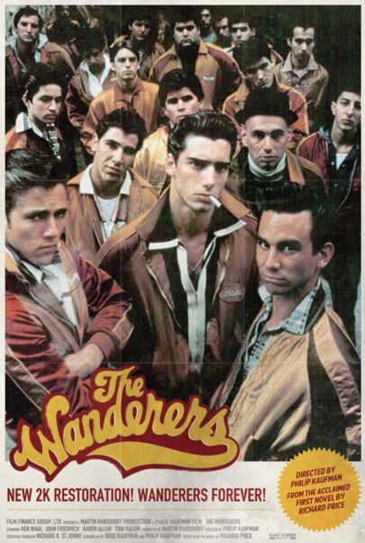 "Movie poster for ""THE WANDERERS (2K RESTORATION)"""