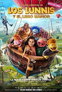 "Movie poster for ""LA GRAN AVENTURA DE LOS LUNNIS Y EL LIBRO MAGICO"""