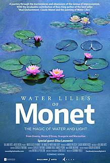 "Movie poster for ""WATER LILIES OF MONET- THE MAGIC OF WATER AND LIGHT"""