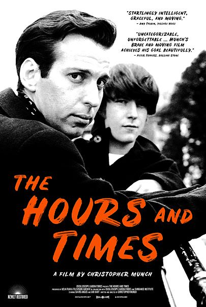 """Movie poster for """"THE HOURS AND TIMES"""""""