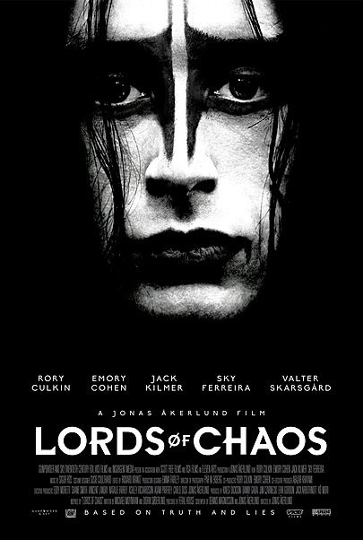 "Movie poster for ""LORDS OF CHAOS"""