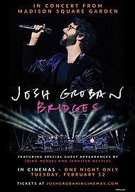 "Movie poster for ""JOSH GROBAN: BRIDGES - FROM MADISON SQUARE GARDEN"""