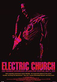 "Movie poster for ""JIMI HENDRIX EXPERIENCE: ELECTRIC CHURCH"""
