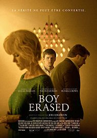 "Movie poster for ""BOY ERASED"""