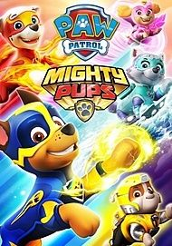 """Movie poster for """"PAW PATROL: MIGHTY PUPS - THE MOVIE"""""""