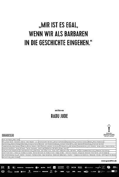"""Filmplakat für """"""""Mir ist es egal, wenn wir als Barbaren in die Geschichte eingehen"""""""""""