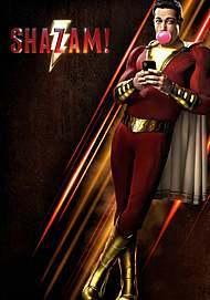 "Movie poster for ""SHAZAM!"""