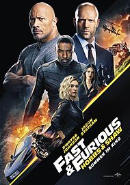 "Movie poster for ""FAST & FURIOUS : HOBBS & SHAW"""