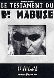 """Movie poster for """"THE TESTAMENT OF DR. MABUSE"""""""