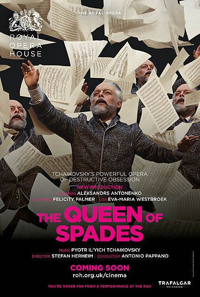 "Movie poster for ""THE QUEEN OF SPADES (ROYAL OPERA HOUSE)"""