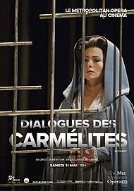 "Movie poster for ""THE METROPOLITAN OPERA: DIALOGUES DES CARMELITES (FATHOM)"""