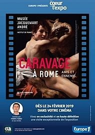 "Movie poster for ""AU CŒUR DE L'EXPO - CARAVAGE A ROME"""