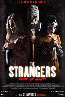 "Movie poster for ""THE STRANGERS - PREY AT NIGHT"""