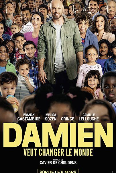 """Movie poster for """"DAMIEN VEUT CHANGER LE MONDE"""""""