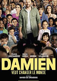 "Movie poster for ""DAMIEN VEUT CHANGER LE MONDE"""