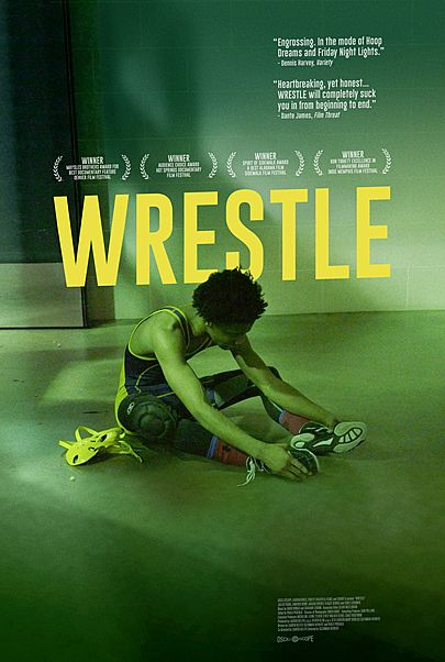 "Movie poster for ""WRESTLE"""