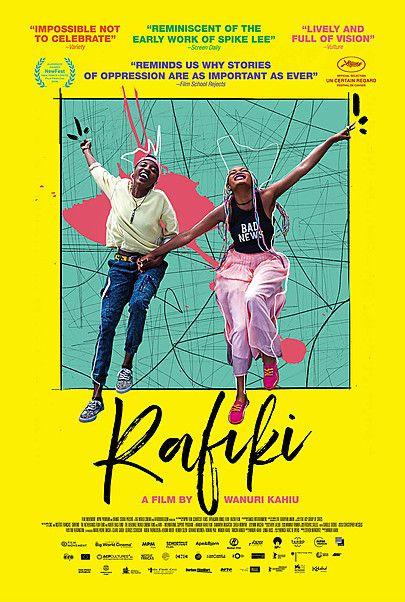"""Movie poster for """"RAFIKI"""""""