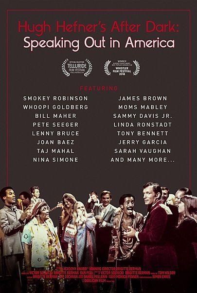 "Movie poster for ""HUGH HEFNER'S AFTER DARK: SPEAKING OUT IN AMERICA"""