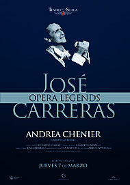 "Movie poster for ""ANDREA CHENIER ( JOSE CARRERAS)"""