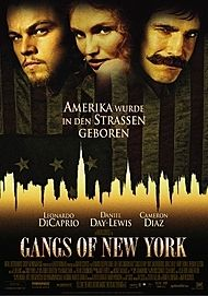 "Movie poster for ""Gangs of New York"""