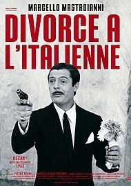 """Movie poster for """"DIVORCE ITALIAN STYLE"""""""