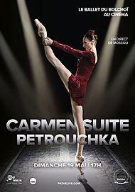 """Movie poster for """"BOLSHOI BALLET: CARMEN SUITE/ PETRUSHKA"""""""