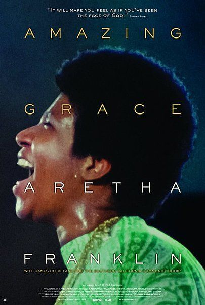 """Movie poster for """"ARAETHA FRANKLIN: AMAZING GRACE"""""""