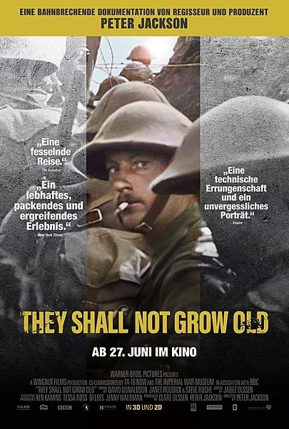 "Filmplakat für ""THEY SHALL NOT GROW OLD"""