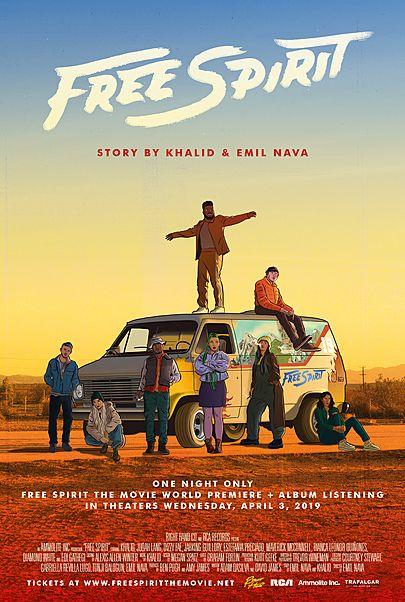 "Movie poster for ""KHALID: FREE SPIRIT"""