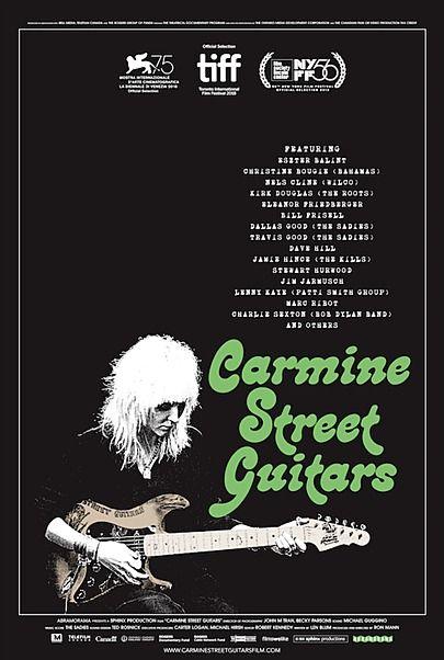 "Movie poster for ""CARMINE STREET GUITARS"""
