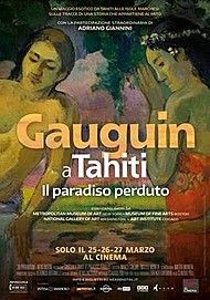 "Movie poster for ""GAUGUIN IN TAHITI-PARADISE LOST"""