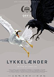 "Movie poster for ""LYKKELAENDER"""