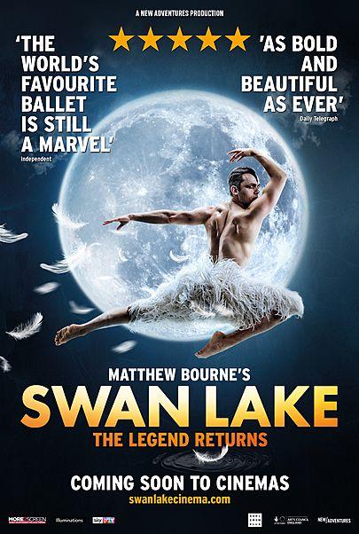 "Movie poster for ""MATTHEW BOURNE'S SWAN LAKE"""