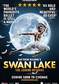 "Movie poster for ""MATTHEW BOURNE'S SWAN LAKE"""
