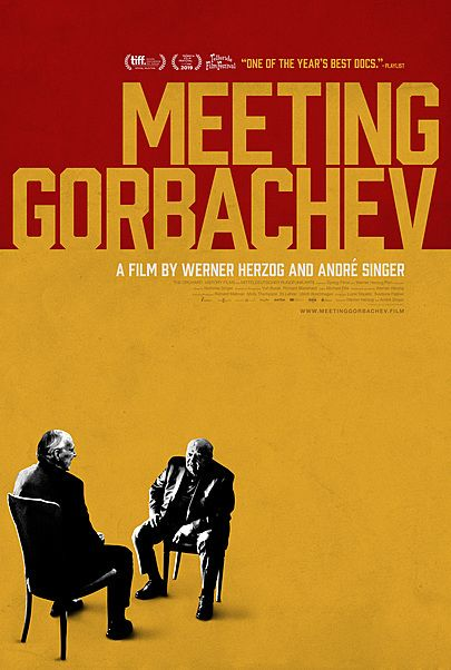 """Movie poster for """"MEETING GORBACHEV"""""""