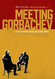 "Movie poster for ""MEETING GORBACHEV"""