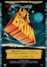 """Movie poster for """"MONTY PYTHON'S LIFE OF BRIAN - 40th ANNIVERSARY"""""""