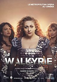 "Movie poster for ""LA WALKYRIE (MET 2019 - PATHE LIVE)"""