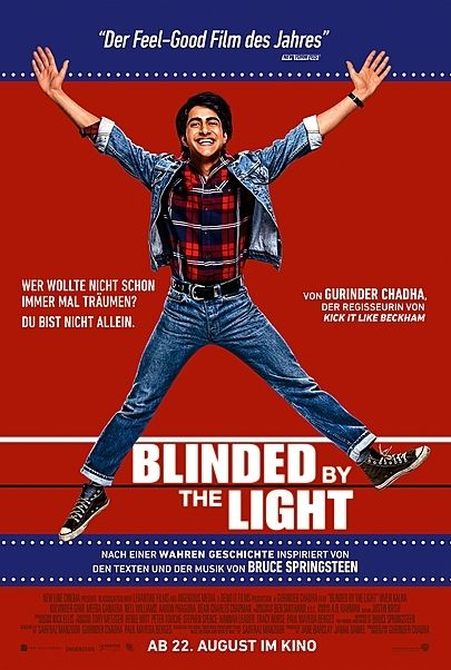 "Movie poster for ""BLINDED BY THE LIGHT"""