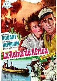 "Movie poster for ""THE AFRICAN QUEEN"""