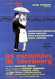 "Movie poster for ""THE UMBRELLAS OF CHERBOURG"""