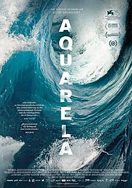 "Movie poster for ""AQUARELA"""